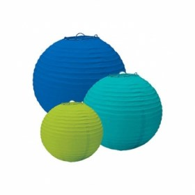 4841993471 luau paper lanterns blue and green